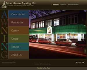 CT Website Design for New Haven Awning
